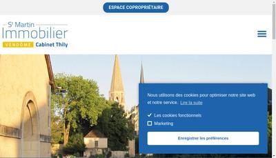 Site internet de Saint Martin Immobilier