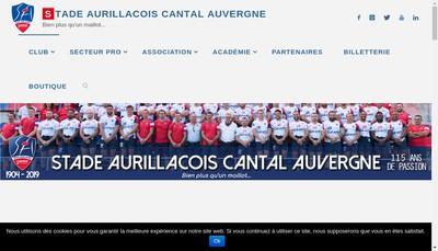 Site internet de Stade Aurillacois Cantal Auvergne