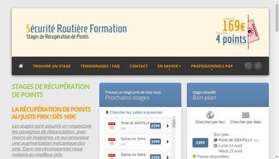 Site internet de Securite Routiere Formation