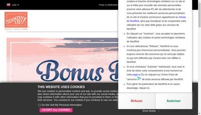 Site internet de Stampin'Up ! France SARL