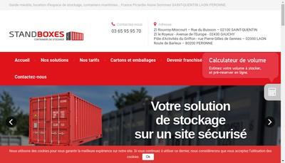 Site internet de Stand-Boxes