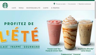 Site internet de Starbucks Coffee