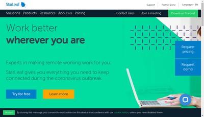 Site internet de Starleaf Ltd
