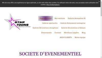 Site internet de Star Toons