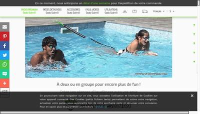 Site internet de Static Swim