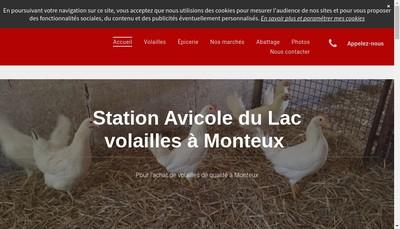 Site internet de Station Avicole du Lac
