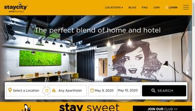 Site internet de Staycity France