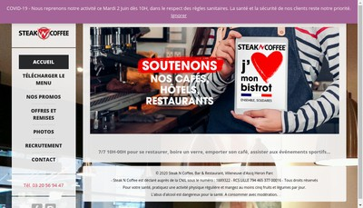 Site internet de Steak'N'Coffee