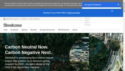 Site internet de Steelcase Holding SAS