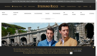 Site internet de Stefano Ricci France