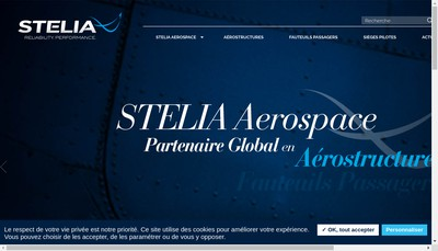 Site internet de Stelia Aerospace