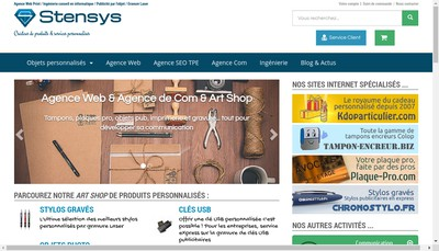 Site internet de Stensys