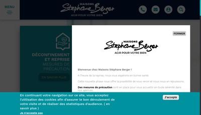 Site internet de Maisons Stephane Berger