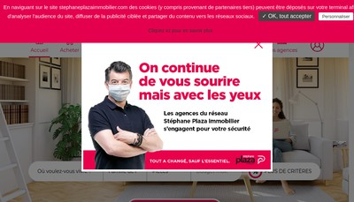 Site internet de Stephane Plaza Immobilier