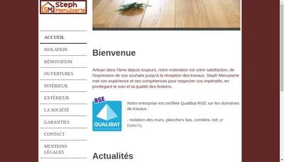 Site internet de Steph Menuiserie