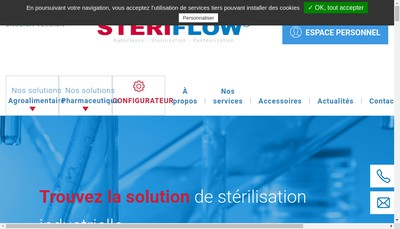 Site internet de Steriflow