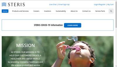 Site internet de Steris