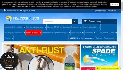 Site internet de Sea Tech et Fun Europe