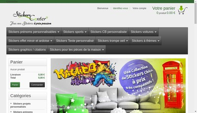 Site internet de Stickers Center