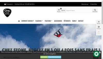 Site internet de Stone Snow Boards