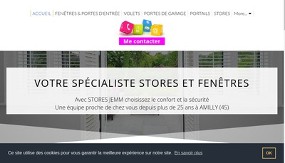 Site internet de Stores Jemm