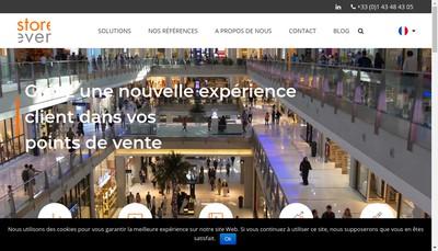 Site internet de Storever