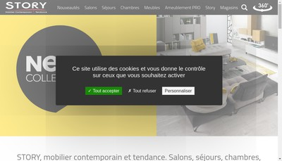 Site internet de Story