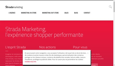 Site internet de Strada Marketing