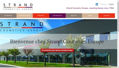 Site internet de Strand Cosmetics Europe