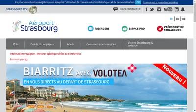 Site internet de Aeroport de Strasbourg-Entzheim