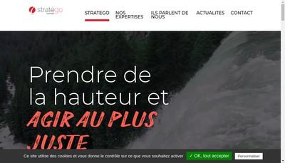 Site internet de Stratego SARL