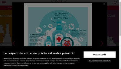 Site internet de Stratus Health & Beauty