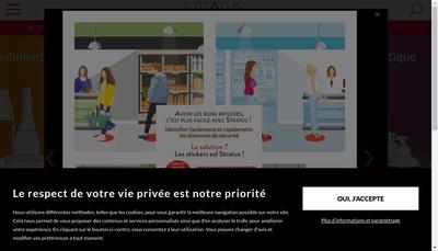 Site internet de Stratus Packaging