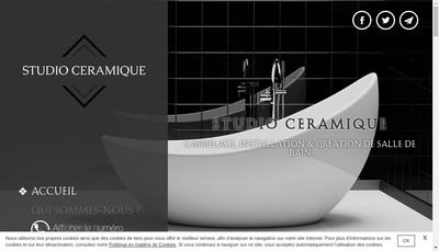 Site internet de Studio Ceramique