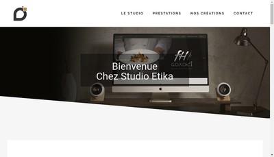 Site internet de Studio Etika