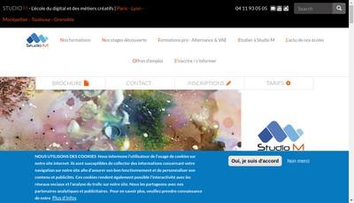 Site internet de Studio M Toulouse