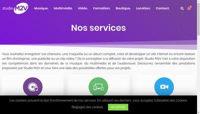 Site internet de Studio M2V