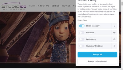 Site internet de Studio 100 Animation