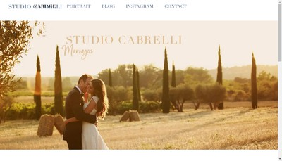 Site internet de Studio Cabrelli