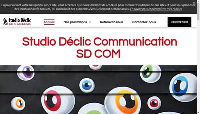 Site internet de Studio Declic