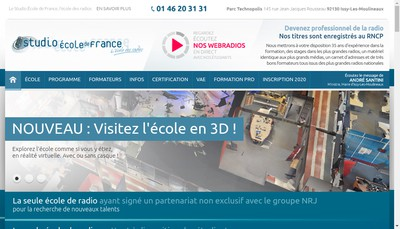 Site internet de Studec
