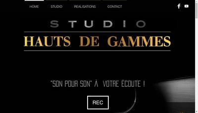 Site internet de Studio Hauts de Gammes