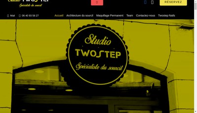 Site internet de Studio Twostep - Beauty By Melody