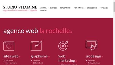Site internet de Studio Vitamine
