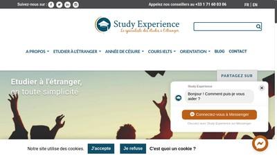 Site internet de Study Experience