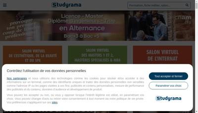 Site internet de Vocatis Studyrama Focus Carriere