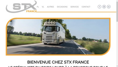 Site internet de Stx France