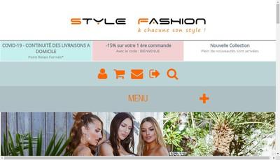 Site internet de Style Fashion