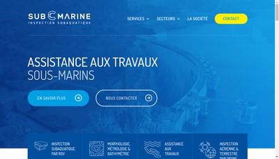 Site internet de Sub-C Marine