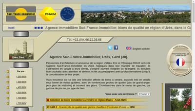Site internet de Sud France Immobilier